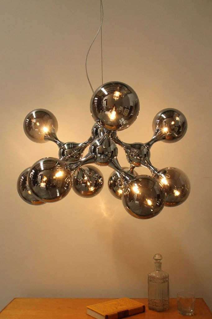 9 light pendant chandelier contemporary lighting with retro influence