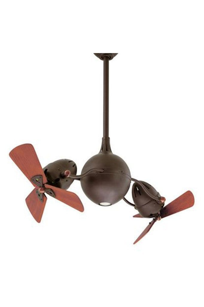 Acqua ceiling fan textured bronze with wooden blades