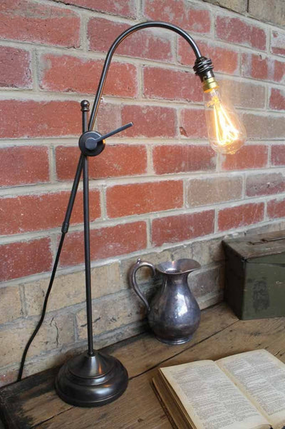 Adjustable table lamp. brass table lamp. dark antique bronze. ideal bedside table lamps or desk lamps. lamps online aust...