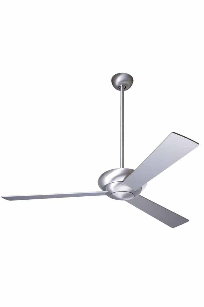 Altus ceiling fan in brushed aluminium no light