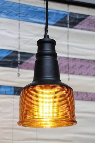Amber glass pendant light. halophane glass shade. online lighting Australia