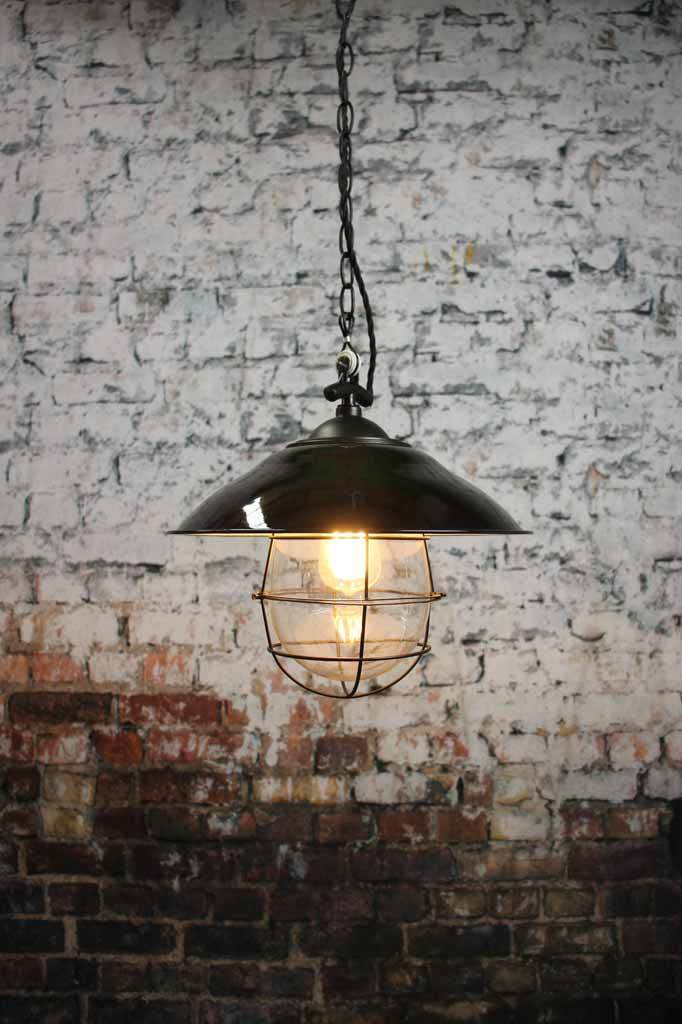 An industrial look for modern home or Australian beach style interiors is this industrial nautical style pendant