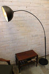 Arc floor lamp adjustable shade