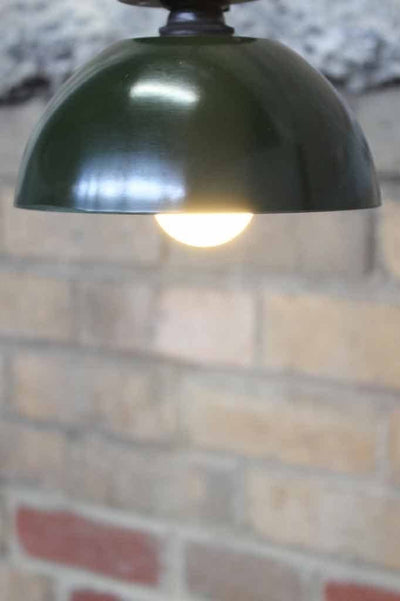 Bakelite Bowl Close To Ceiling Light. Green ceiling light. Close to ceiling lights for low ceilings