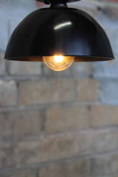 Bakelite bowl close to ceiling light. ideal for low ceilings. use filament led for soft ambient lighting or bright bulb for task lighting. use close to ceiling lights bedroom lights