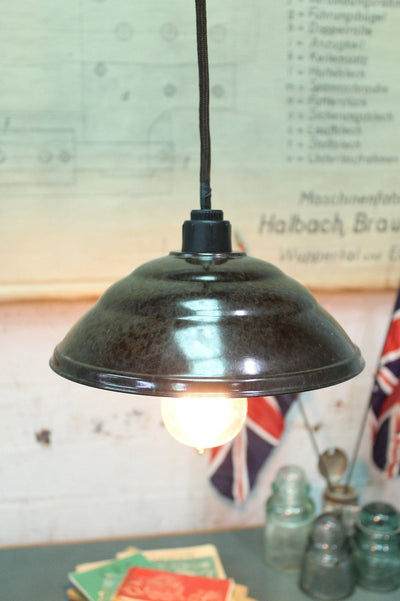 Bakelite shade pendant light brown