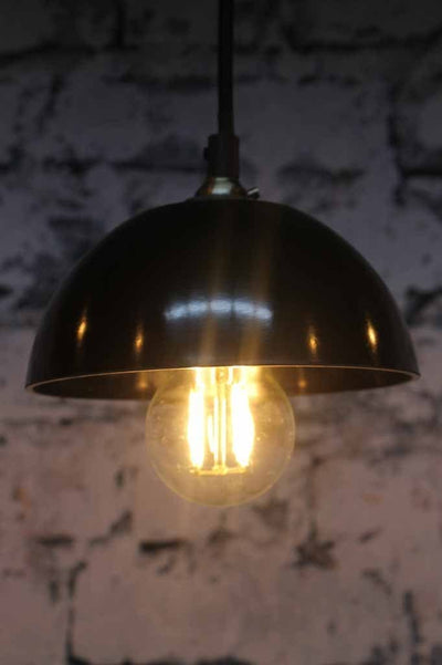 Baklite bowl chandelier has shades available in 6 colours each with distinct vintage character
