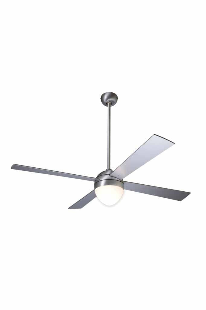 Ball ceiling fan in aluminium finish no light