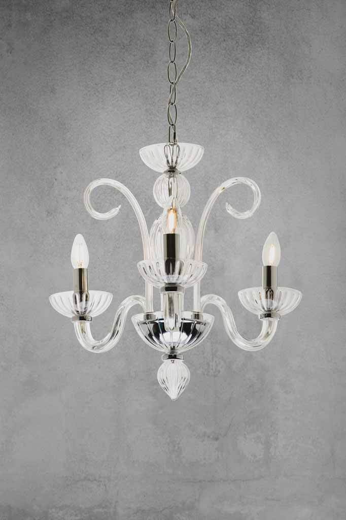 Beaufort glass chandelier with 3 lampholders. chandelier lighting 1920s colonial revival in small medium or large sizes