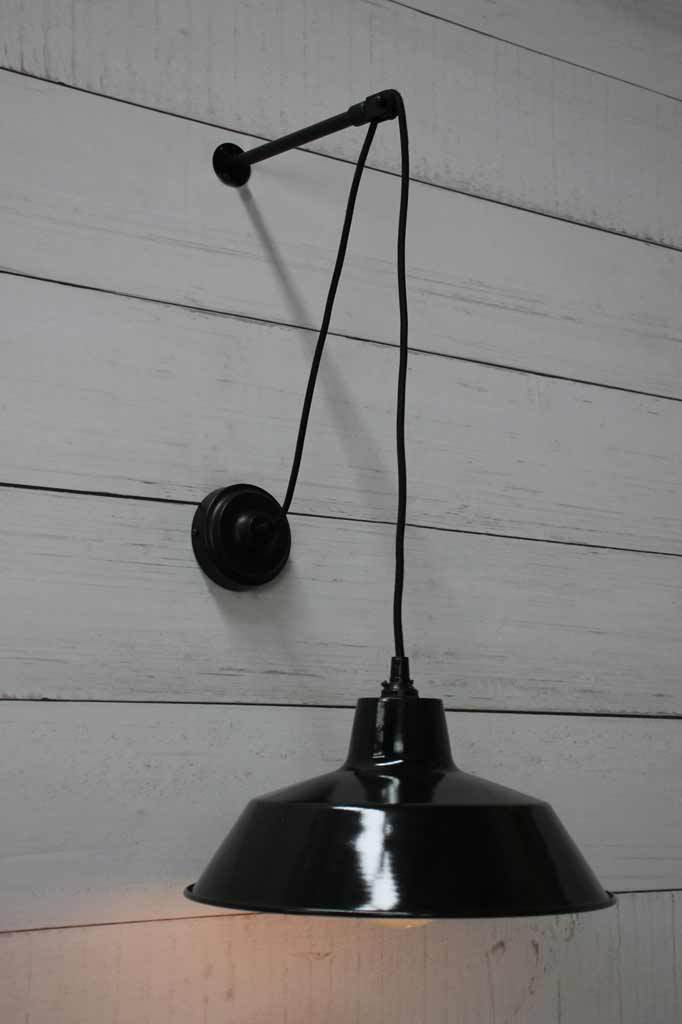 Factory Pulley Wall Light