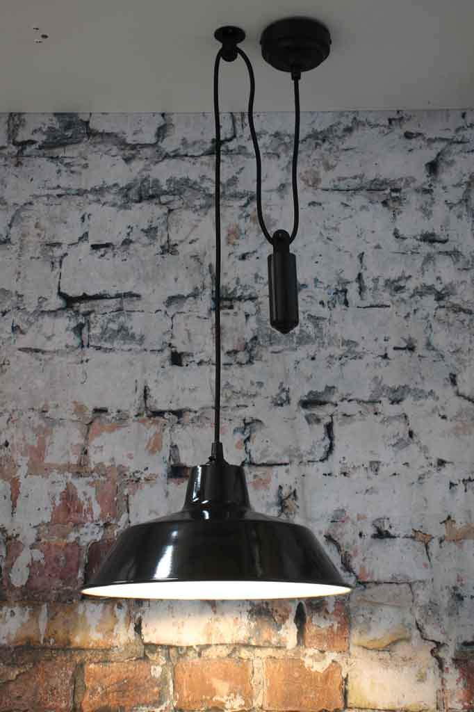 Black Pulley Pendant