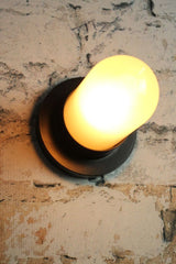 Black and glass wall light