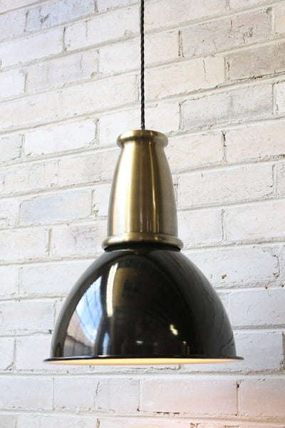 Brickworks pendant light with antique brass cover