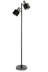 Bright chrome and black floor lamp. twinlight floor lamp. reading light for nursery