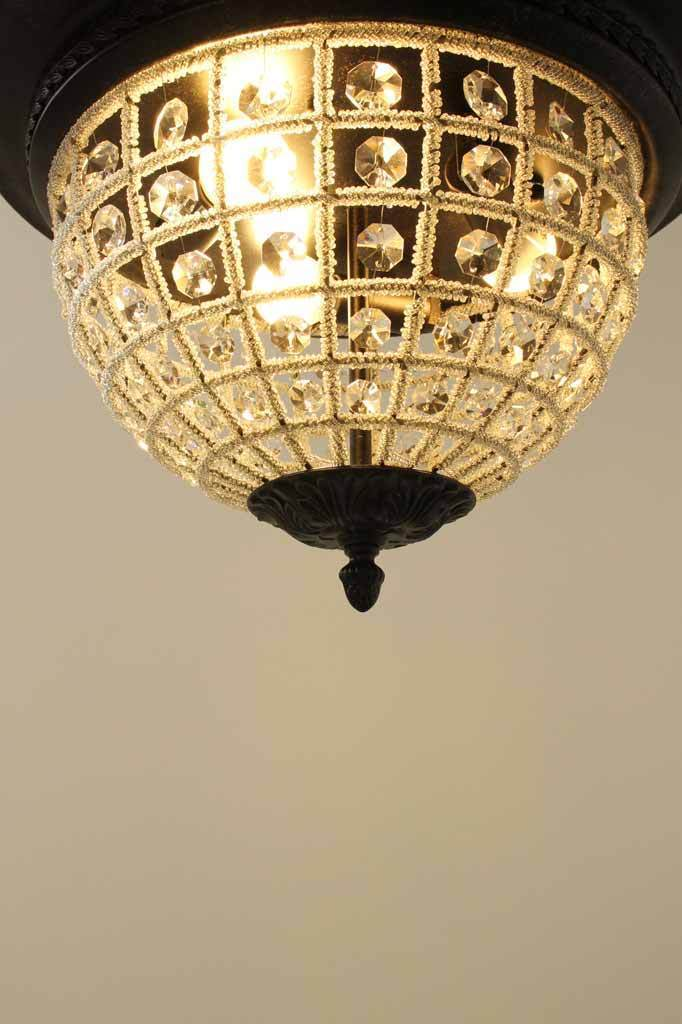 Bronze and crystal light fitting. beaded shade lighting. luxe lighting Australia