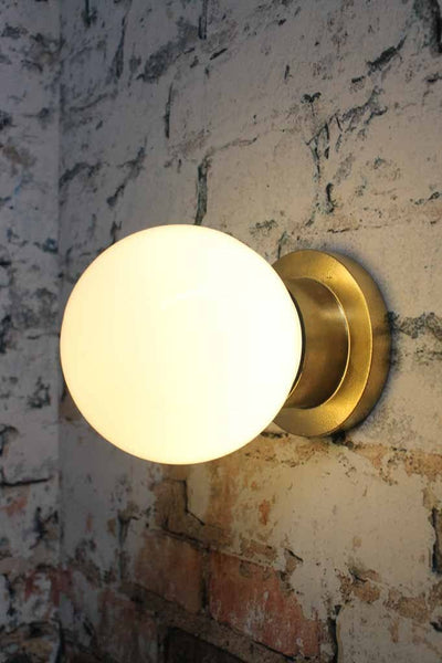 Bunker Globe Light Ceiling Or Wall Mount Black Or Gold