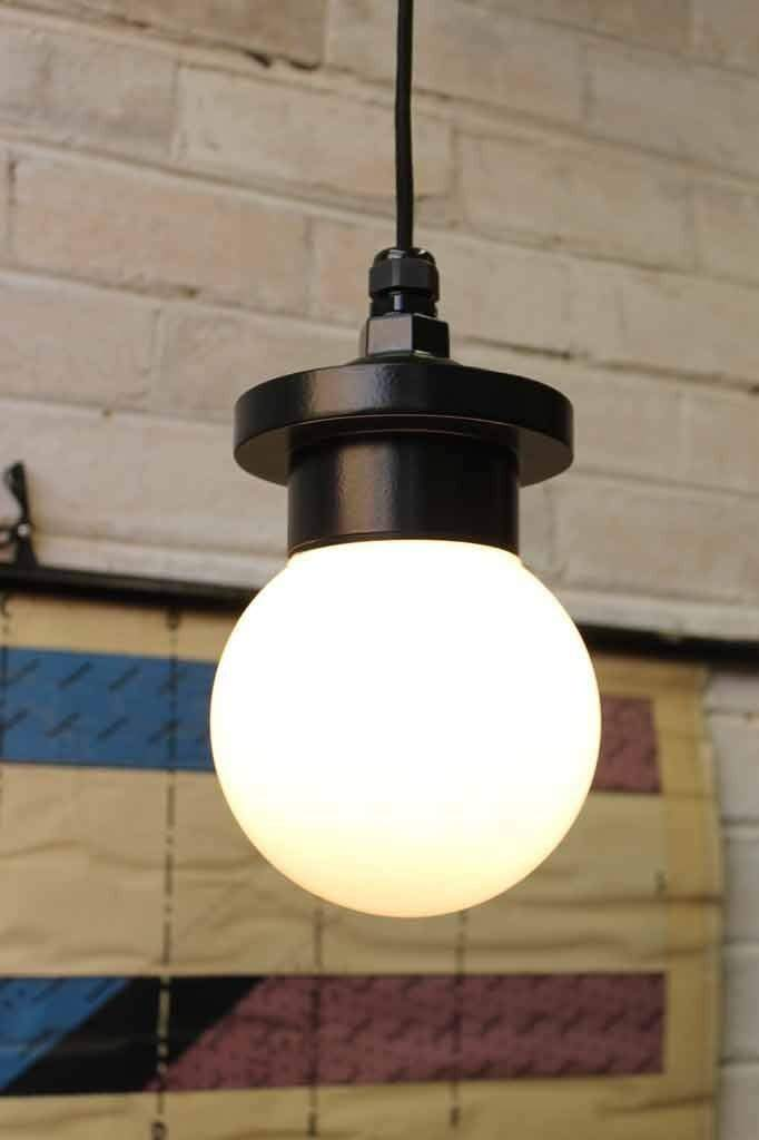 Bunker globe pendant light industrial lighting