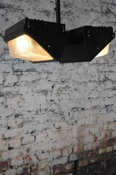 Bunker vault flush mount light. these black lights are housed in high strength die cast aluminium