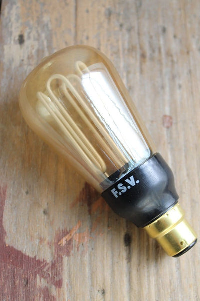Cfl squirrel cage designer bulb smoked glass