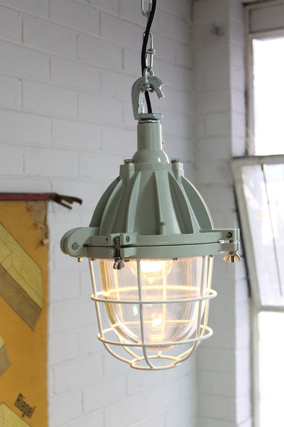 Cage light industrial pendant