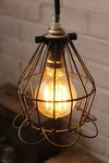 Cage light trouble light industrial style lighting with small round gls led bulb