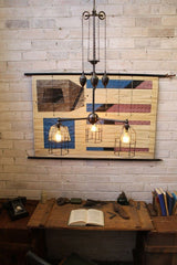 Cage Chandelier Pulley Light ideal for cafe restaurant and home d3e25e60-9644-44ea-848a-91520907632b