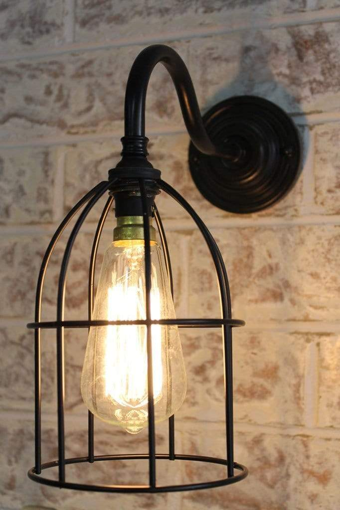 Cage Gooseneck Wall Light