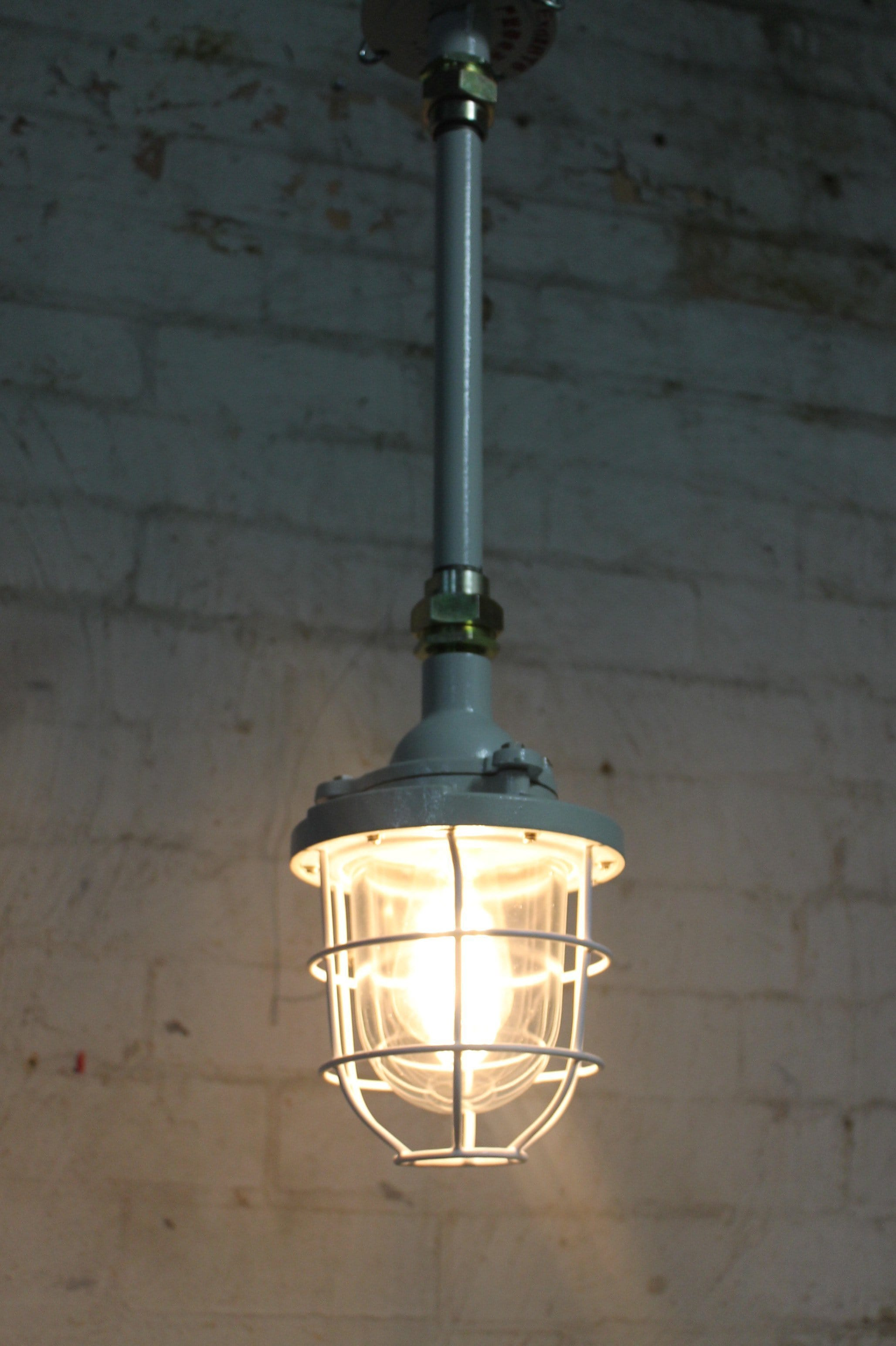 pin instrustrial pendant industrial and light with white enamel interior