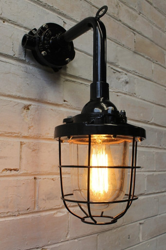 Cage Light Industrial Wall Light