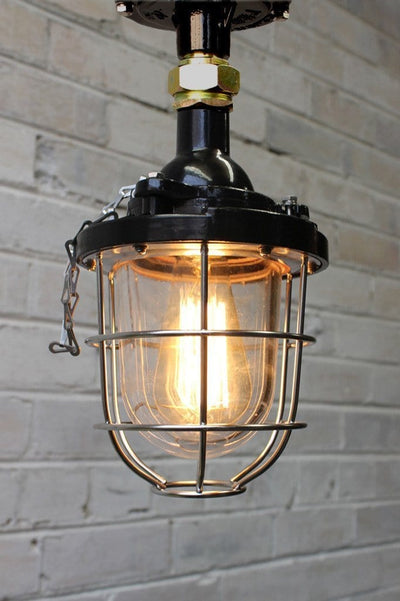 Cage Light Industrial Pendant Ceiling Flush Mount