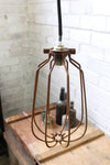 Cage light shade industrial vintage pendant light shade clamps over bayonet lampholder