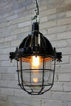Cage light industrial with black cage