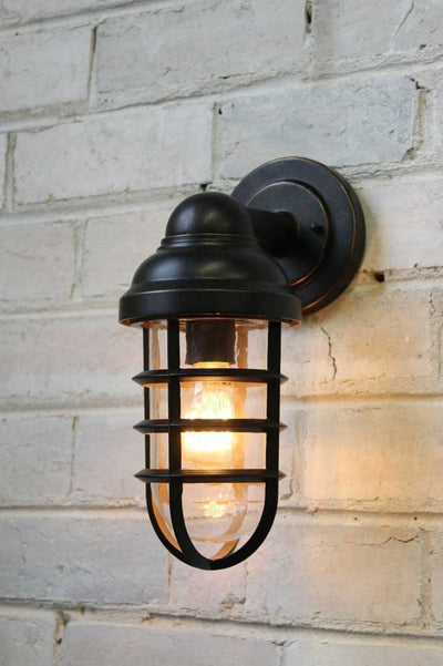 Canal outdoor wall light in antique bronze finish