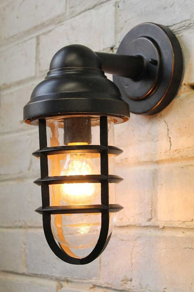 Canal outdoor wall light with an edison filament bulb