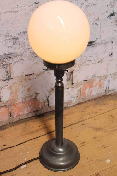 Candlestick table lamp antique bronze finish
