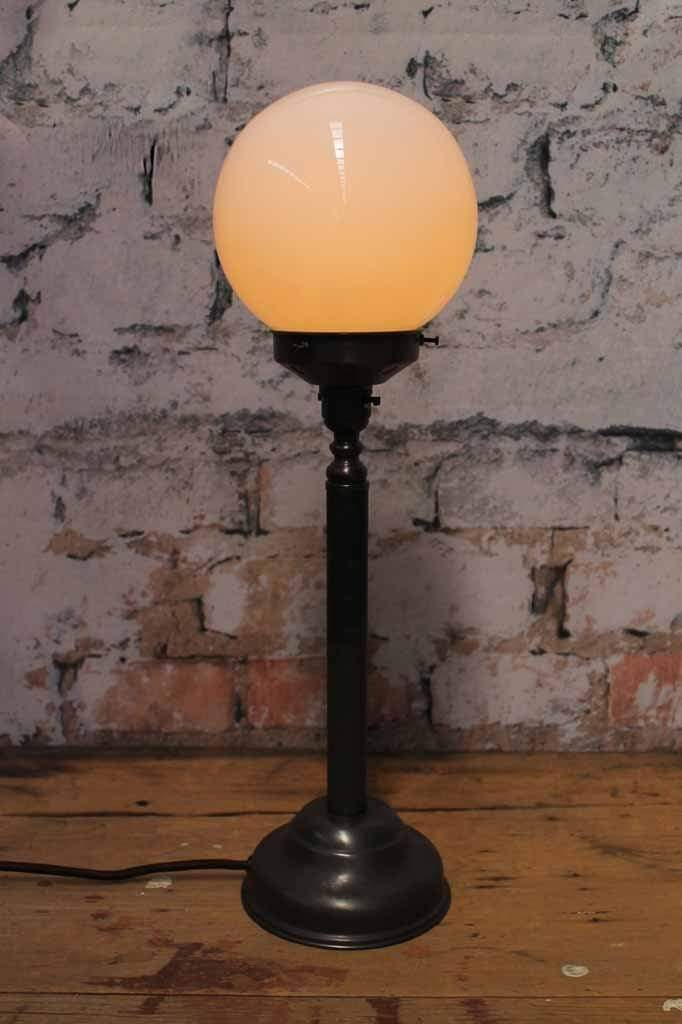 Candlestick table lamp matt black finish