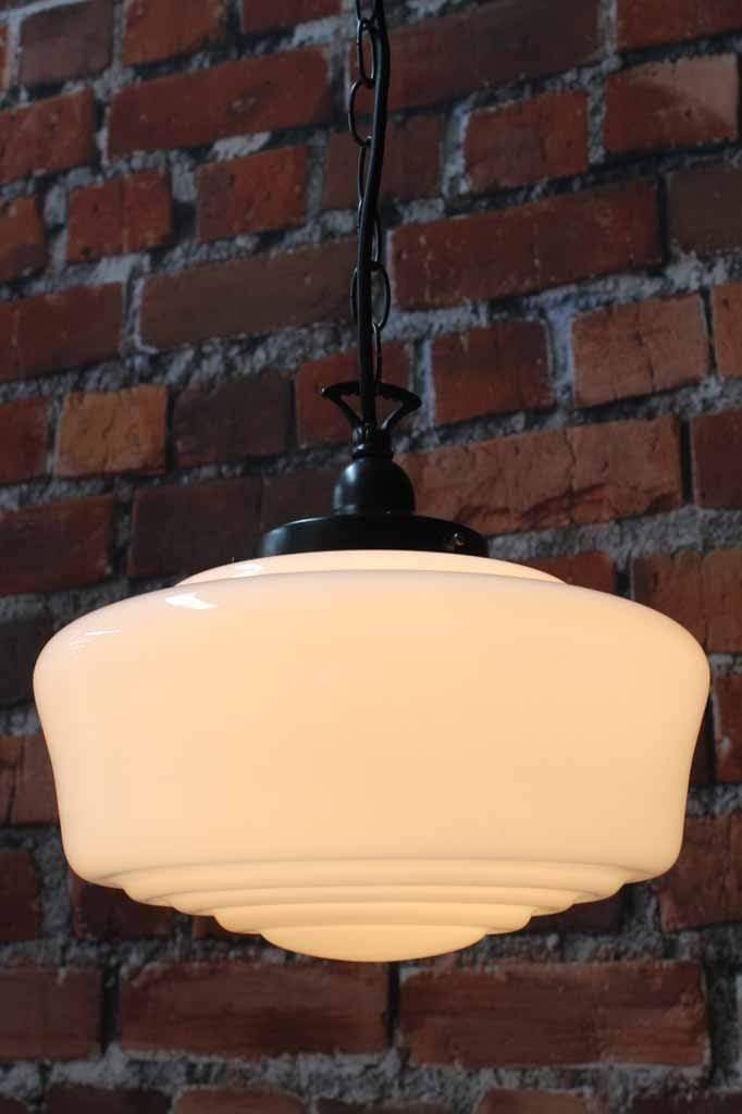 Carlyle Schoolhouse Glass Pendant Light