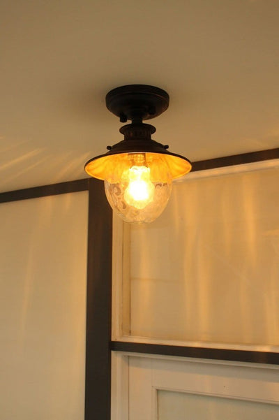 Ceiling light for outdoor use. vintage style flush mount light. vintage style exterior lights.