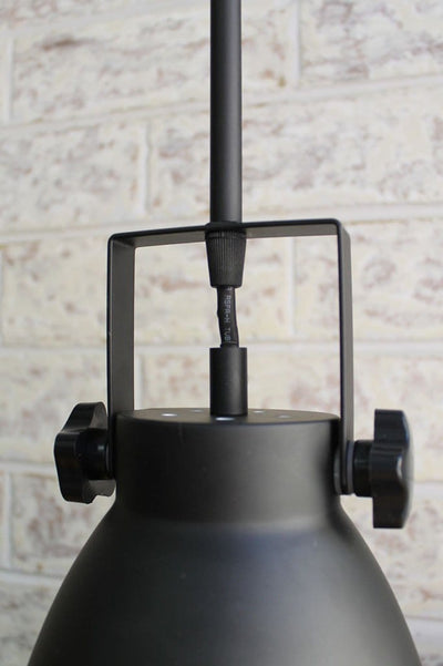 Cellar pendant light pole mount to shade