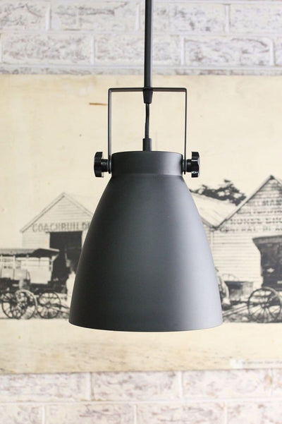 Cellar pendant light shade with pole mount