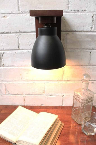 Cellar wood wall lamp ambience lighting for lounge