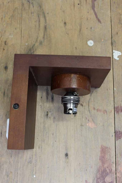 Cellar wood wall lamp with a b22 lamp holder