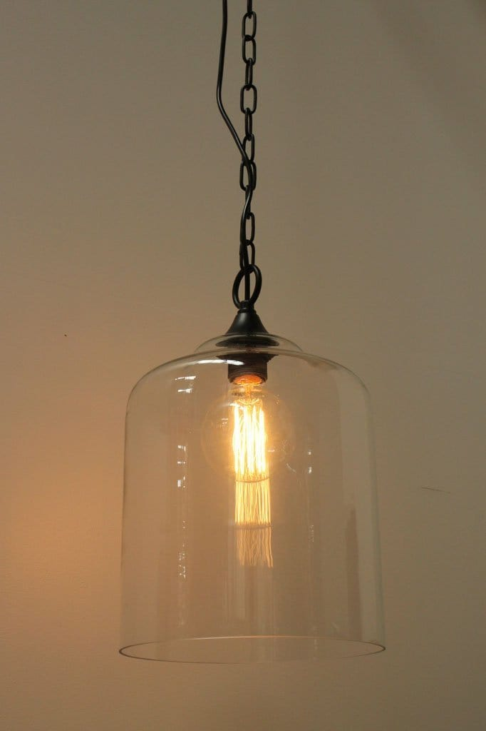 Chain and glass pendants. hanging ceiling lights. hamtons pendant lighting