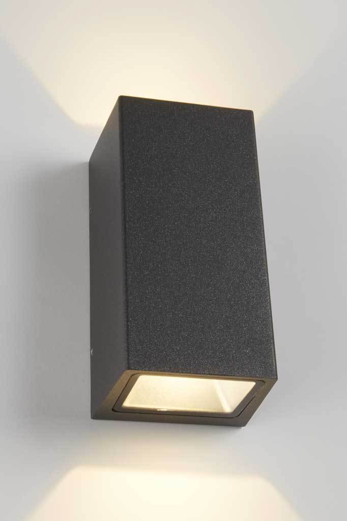 Charcoal up down wall light