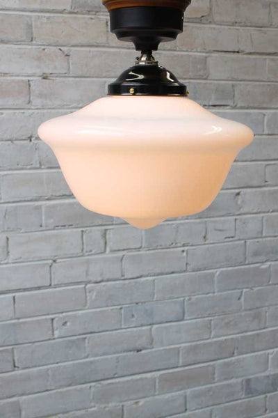 Chelsea Batten Lights - Small schoolhouse shade with wood block d14e090f-b51f-40e1-97af-25aa8abb2f0e