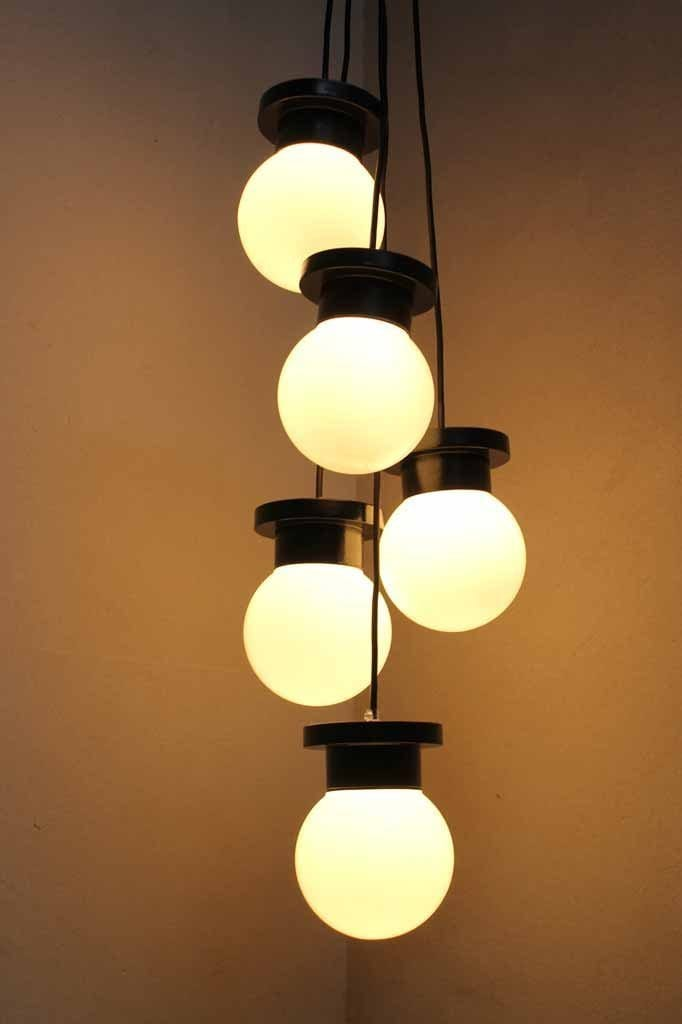 Cluster pendant chandelier. classic spherical design lighting.