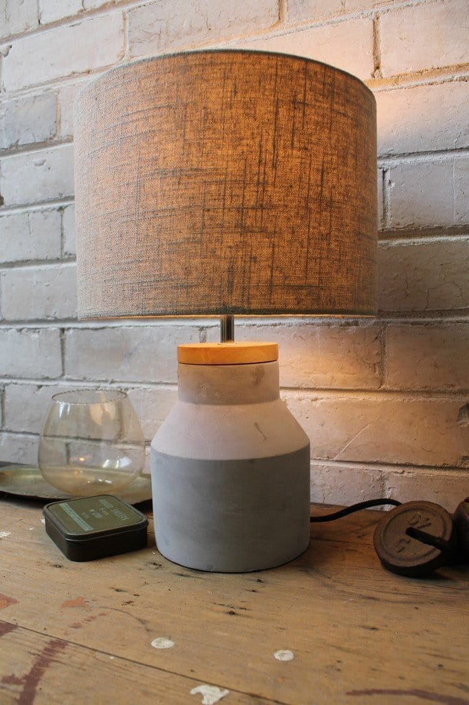 Concrete Timber Table Lamp