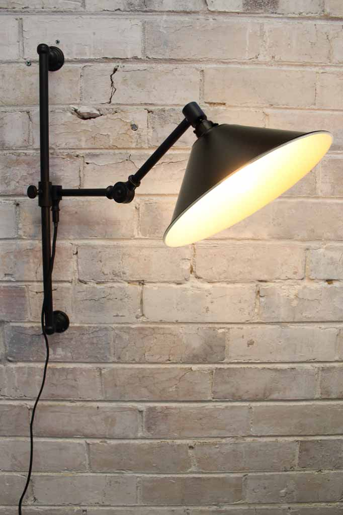 Cone Swing Arm Light with Wall Plug
