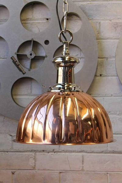 Copper Jelly Mould pendant light