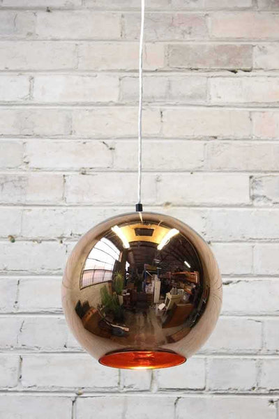 Copper pendant light ideal for cafe lighting fitouts and home decor